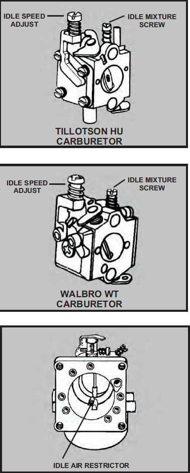 walbro carburetor fuel line routing