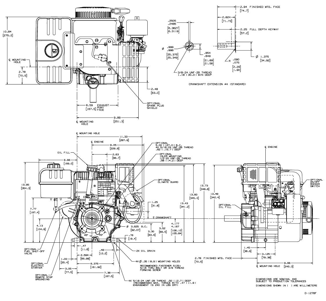 Tecumseh HM100 Engine Exploded View