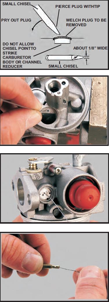 Tecumseh Carburetor Cleaning Steps 5-8